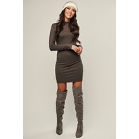 Forever Friends Bodycon (Military Olive)