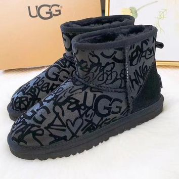 UGG Women Fashion Winter Short Boots Wool Snow Boots Shoes