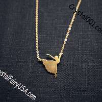 Tiny gold ballet jewelry ballerina necklace tiny gold necklace dancing girl neck