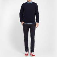 Acne Studios - Max Satin Slim-Fit Cotton-Blend Trousers | MR PORTER