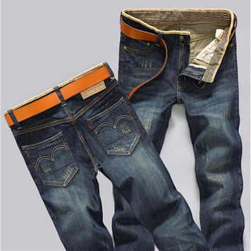 Men Jeans fashion Jeans Casual High Quality