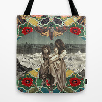 Death's Head Tote Bag by morgaen muñoz