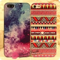 Tribal zigzag pattern iPhone 4/5 case from ClothLess