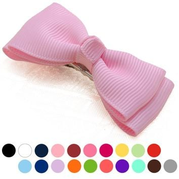 2pc high quality Hair Clip with alligator clips Hair Bowknot Clips grosgrain ribbon Hairpins girls Hair Accessories