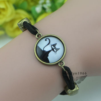 MF0652 Cat Bracelet  Alice in Wonderland Bracelet Fashion DIY Bracelet Gift