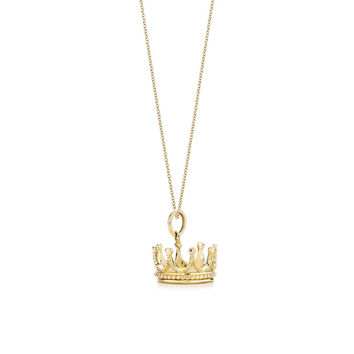 Tiffany & Co. - Crown charm and chain