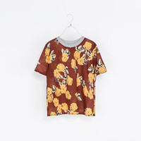 ROSE PRINT BLOUSE - Shirts - Woman | ZARA United States