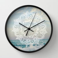 civil. Wall Clock by Pink Berry Patterns