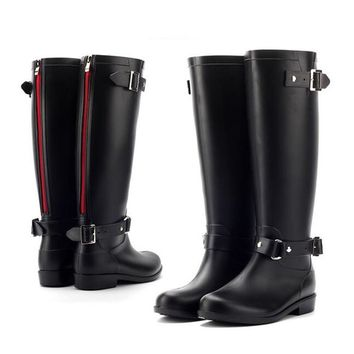 pvc women rain boots girls ladies rubber shoes for casual walking hunting hunter outdo  number 1