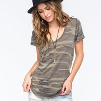 Others Follow Camo Womens Pocket Tee Camo  In Sizes
