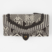 Twig & Arrow Twin Print Braided Wallet Black/White One Size For Women 26326212501