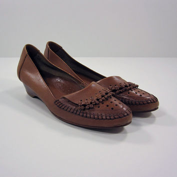 80s Vintage Shoes / 9 West leather vintage shoes