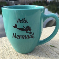 Hello Mermaid coffee mug