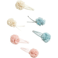 H&M - 6-pack Hair Clips - Light pink - Kids