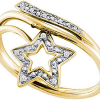 Diamond Fashion Ring in 10k Gold 0.03 ctw