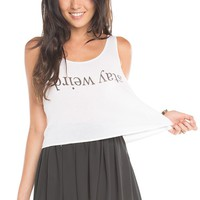 Brandy ♥ Melville |  Mirella Stay Weird Tank - Just In