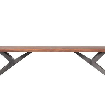 Air Loft Bench Acacia Wood Iron