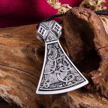 Viking Axe Pendant Necklaces Jewellery Goth Scandinavian Norse Vikings Vintage Jewelry 2 color choose
