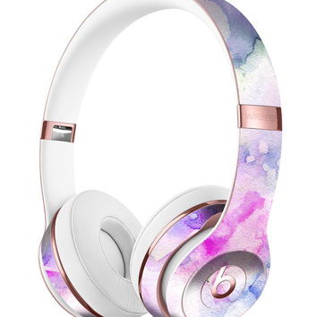 Light Blue 3123 Absorbed Watercolor Texture Full-Body Skin Kit for the Beats by Dre Solo 3 Wireless Headphones