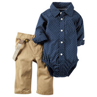 Carter's Boys 3-pc. Long Sleeve Pant Set-Baby