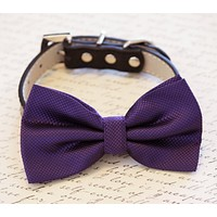 Eggplant Dog Bow tie collar, Pet Purple wedding, Dog Lovers, Love Purple
