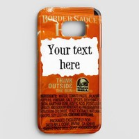 Taco Bell Your Text Here Samsung Galaxy S8 Plus Case