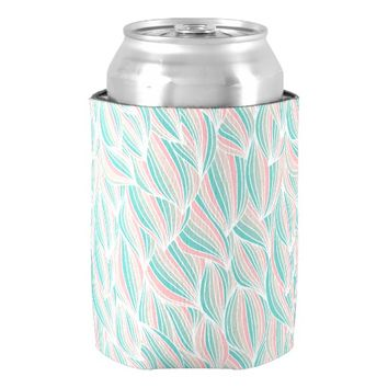 Modern Abstract Stripes Pattern Can Cooler