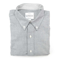 Charcoal Cambridge Oxford - The Graham Button Down