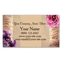 Vintage Floral Business Cards