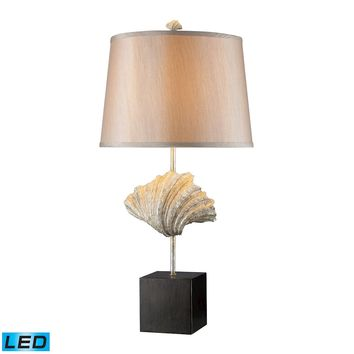 Edgewater LED Table Lamp In Oyster Shell And Dark Bronze