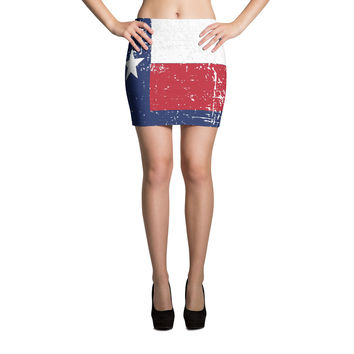 Texas Flag Mini Skirt | The Inked Elephant