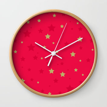 Stars Wall Clock by printapix