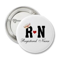 RN Registered Nurse Pin from Zazzle.com