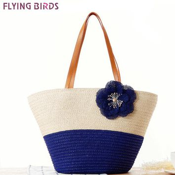 Womens beach handbag Bohemian travel bags straw bag