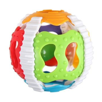 Baby Toy Fun Little Loud Bell Ball Toy Rattles Develop Baby Intelligence Baby Activity Grasping Toy Hand Bell Rattle