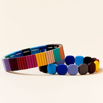Gum Drop Colorblock Bracelets (set of 2)