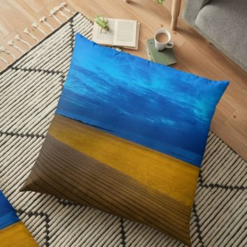 'A night at the beach' Floor Pillow by vfphoto