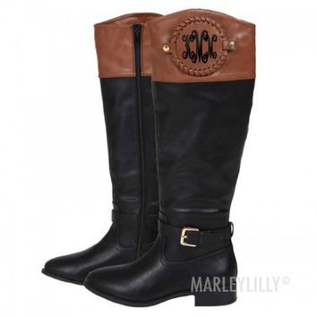 Monogrammed Riding Boots | Marleylilly