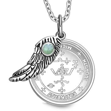 Archangel Michael Sigil Magic Wing Amulet