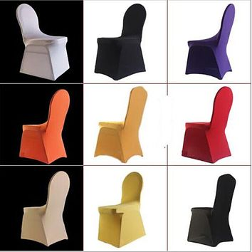 Universal Spandex Stretch Chair Covers Hotel Wedding Party Banquet Decoration
