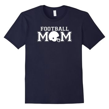 Football Mom game day mother's sporty helmet t-shirt