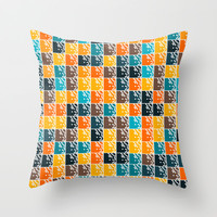 Squares Throw Pillow by Silvianna