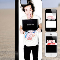 harry Styles love you one direction - iPhone 4/4s/5/5s/5c Case - Samsung Galaxy S3/S4 - Blackberry z10 - iPod 4/5 - Black or White