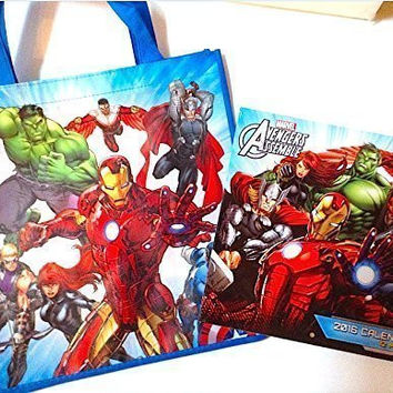 Avengers Ultimate Gift Sets 2016 Calendar and Hard To Find Avengers Assemble Toy Gift Bag Travel Tote - Best Holiday Gifts for Kids