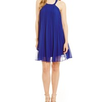 Guess Fiona Accordion-Pleated Dress | Dillards