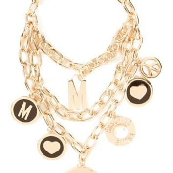 Moschino Gold Charm Necklace