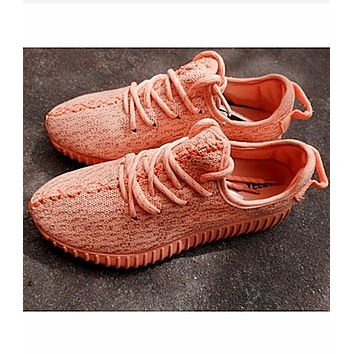 """Adidas"" Women Yeezy Boost Sneakers Running Sports Shoes Orange"