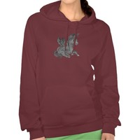 Hoodie Dark pegasus illustration