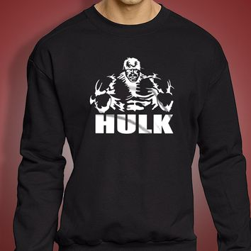 Hulk Cool Fitness Gym Good Vibes Workout Exercise Retro Men'S Sweatshirt
