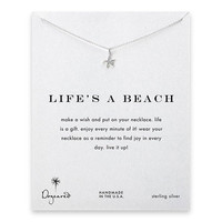 "Dogeared Life's A Beach Starfish Sterling Silver Reminder 16""Necklace"
